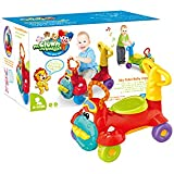 Baby Toddler Kids Push Walker Ride On Toys 4 Wheels with Music & Light