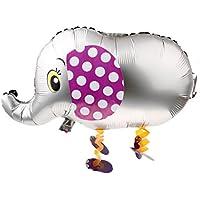 Dovewill 全5色 ウォーキングペット フォイル 象の形 風船 ペット バルーン 動物 ヘリウム 子供たちのおもちゃ  - シルバーグレー