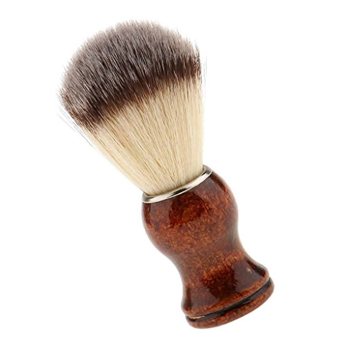 不快な魅惑する水分SONONIA サロン 理髪用 ナイロン シェービングブラシ 首/顔 散髪整理  泡たてやすい ひげブラシ