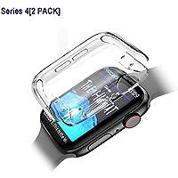 【2個セット】VICARA compatible Apple Watch series 4 ケース 新型 全面保護 Apple Watch 44mm カバー TPU素材 柔らかい 耐衝撃 脱着簡単 アップルウォッチ シリーズ4 ケース 高品質 iwatch ケース クリア(新型 44mm)