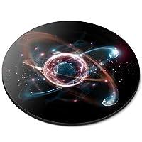 ラウンドマウスマット - 原子粒子科学物理学オフィスのギフト - RM12393