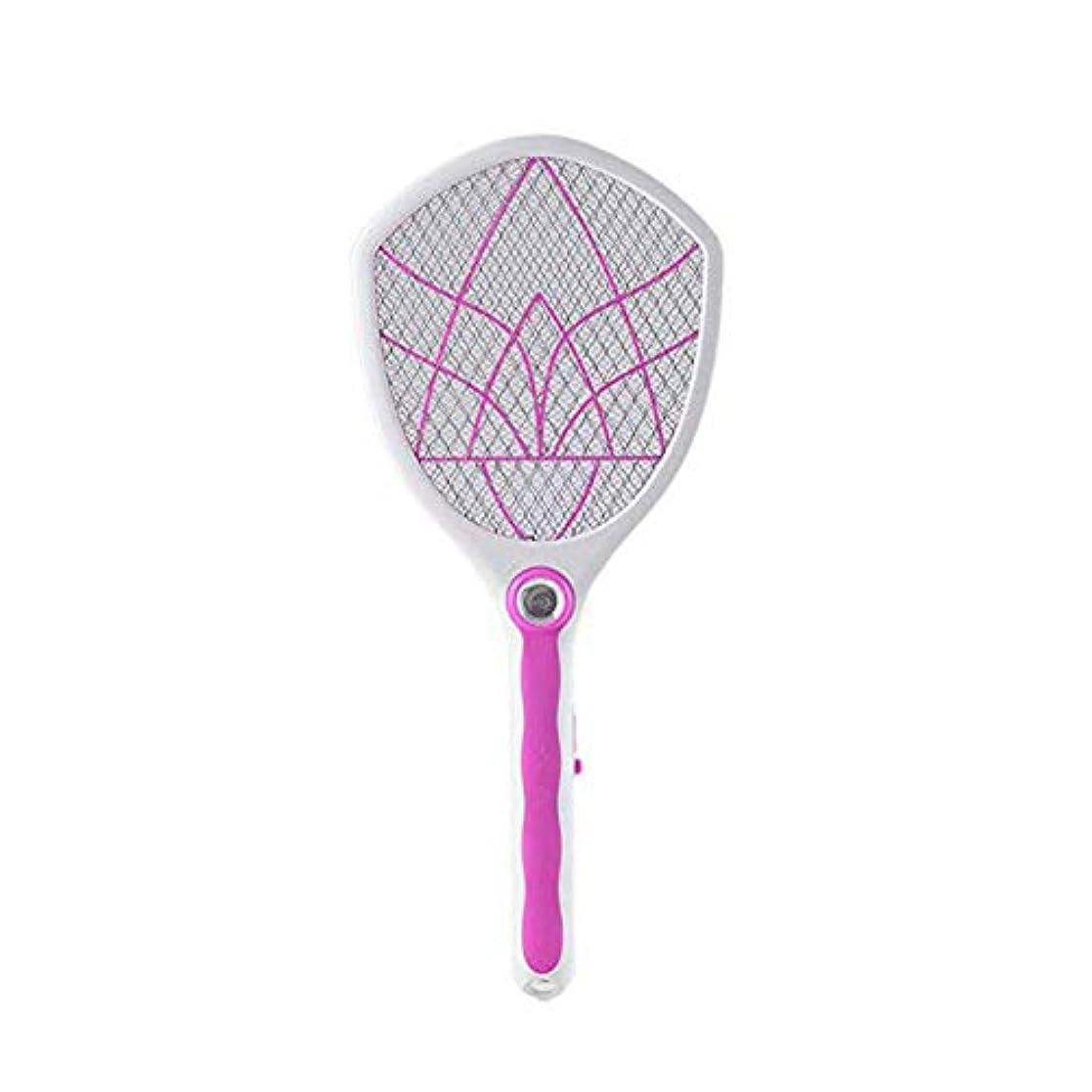 流産抑止する検出器電気蚊のたたき、 - 高電圧 - USB充電、超高輝度LEDライト - タッチセーフ