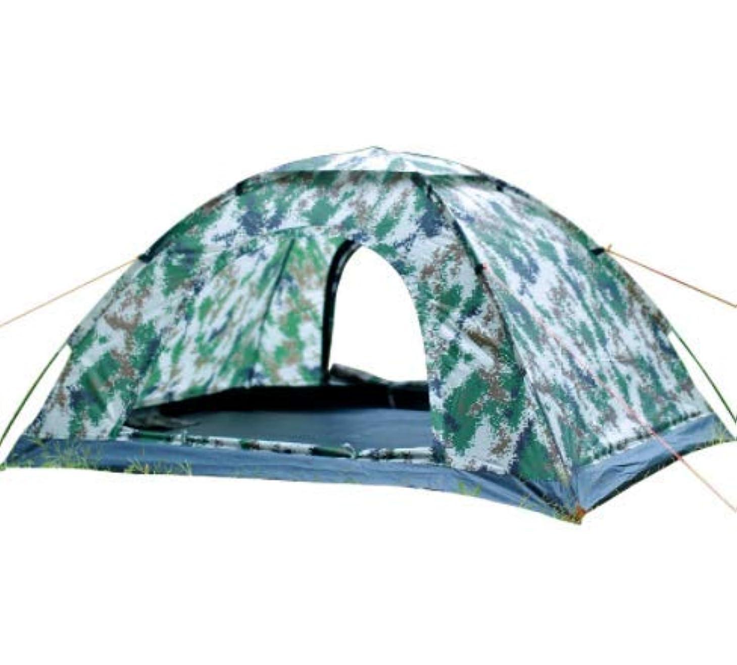 努力するレシピ支援するOkiiting 200 * 145 * 105センチ屋外迷彩単層テント防水と防雨日焼け止め2-4人キャンプ用品安全防虫換気 うまく設計された