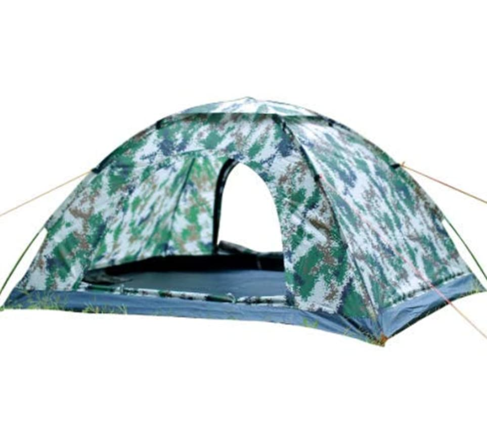 憂慮すべきかき混ぜる真っ逆さまWppolika 200 * 145 * 105センチ屋外迷彩単層テント防水と防雨日焼け止め2-4人キャンプ用品安全防虫換気