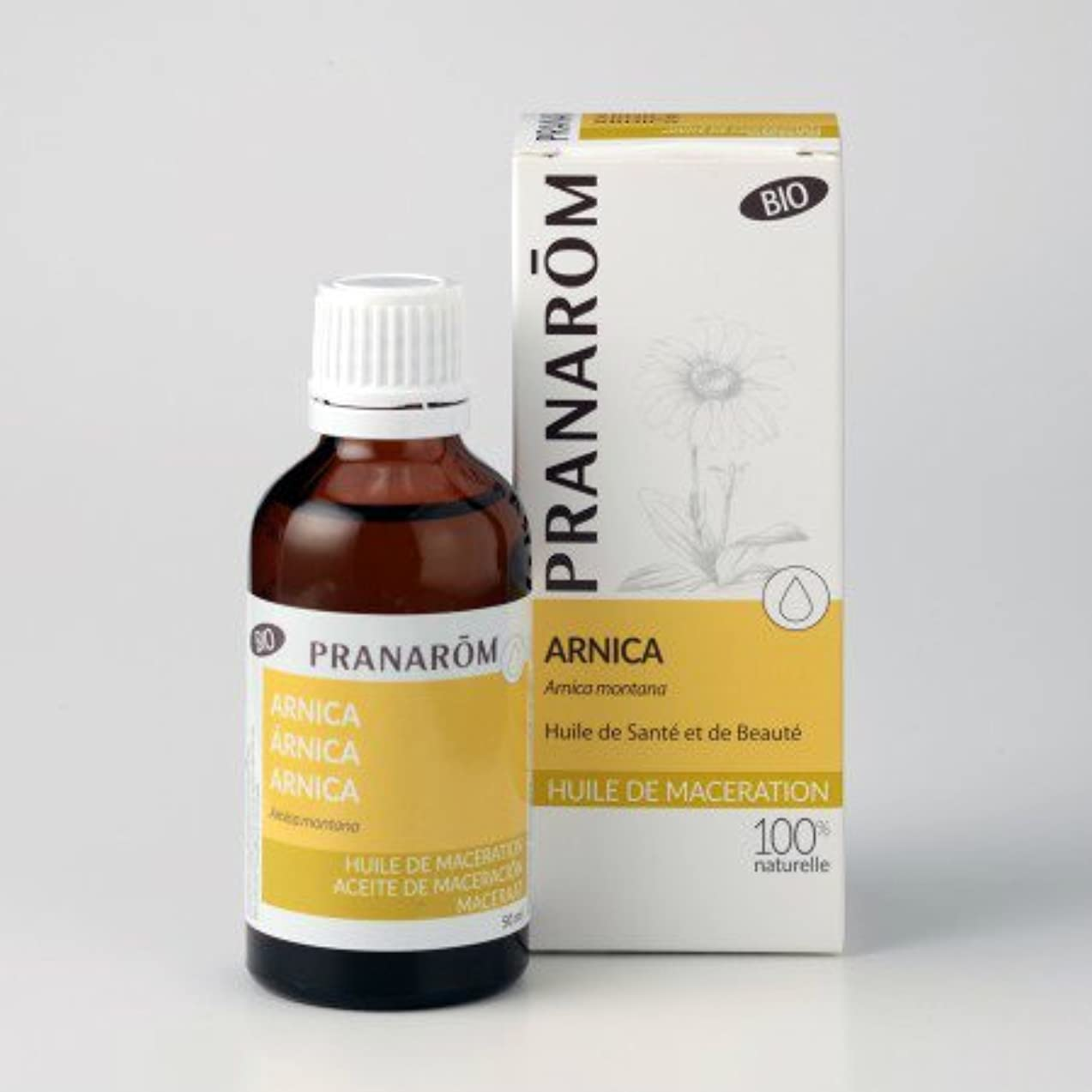 中ぶどう未使用プラナロム アルニカオイル 50ml (PRANAROM 植物油)