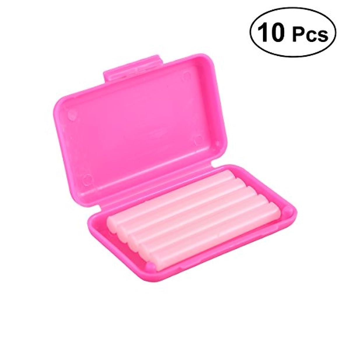 であることダーリンゴミ箱SUPVOX 10PCS歯列矯正用ワックス用保護ワックス(ピンクストロベリーフレーバー)