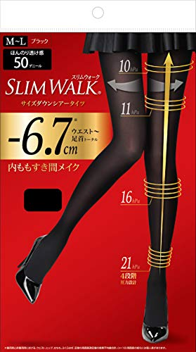 ピップ スリムウォーク (SLIM WALK) サイズダウンシアータイツ M~Lサイズ ブラック