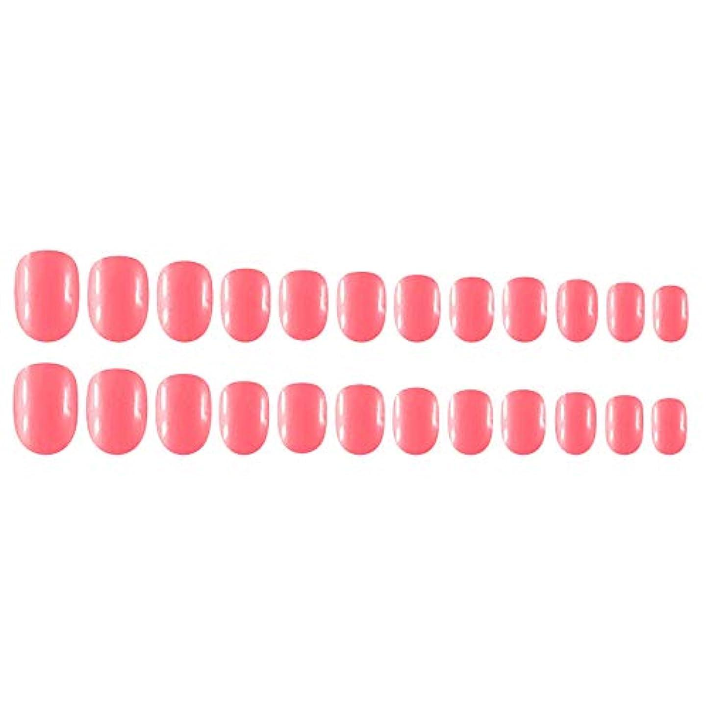 ベリーベリーシンプルさDecdeal Decdeal ネイルチップ 24ピース 12異なるサイズ diy サロン ネイルアートツール 偽