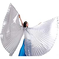 Wuchieal Belly Dance Isis Wings Festival Egyptian Cosplay Costume Angel Isis Wings with Sticks