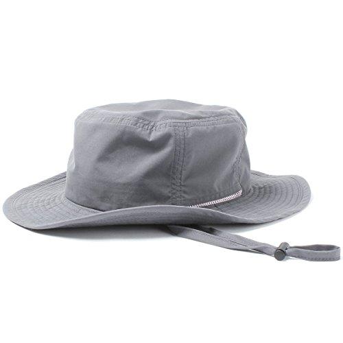 (ベーシックエンチ) BASIQUENTI テフロンサファリハット 帽子 GRAY 品質検査済み撥水加工 レイン フェス バケット フリーサイズ 57cm-59cm ニューカラー グレー