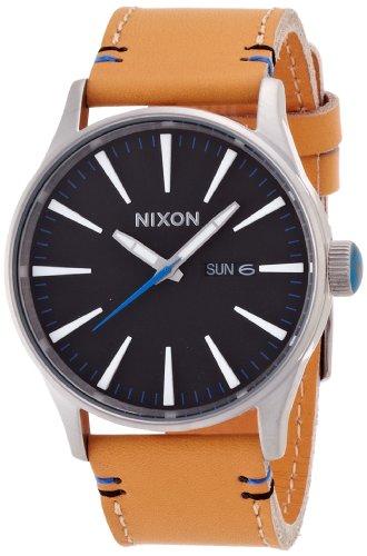 [ニクソン]NIXON SENTRY LEATHER: NATURAL/BLACK NA1051602-00 メンズ 【正規輸入品】