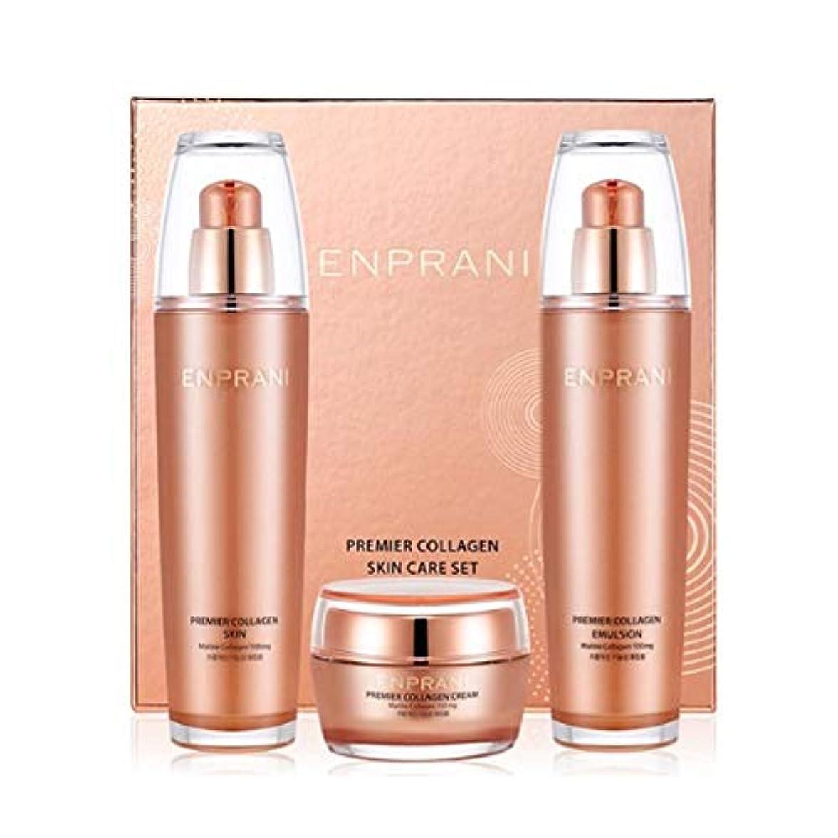 等しいなめるカートンエンプラニ?プレミアコラーゲンセット(スキン125ml、エマルジョン125ml、クリーム50ml)、Enprani Premier Collagen Set (Skin、Emulsion、Cream) [並行輸入品]