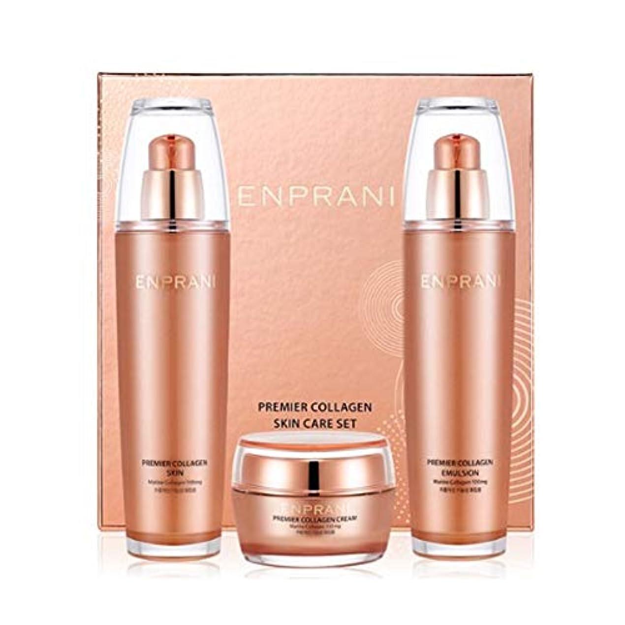 絶滅デザート変換するエンプラニ?プレミアコラーゲンセット(スキン125ml、エマルジョン125ml、クリーム50ml)、Enprani Premier Collagen Set (Skin、Emulsion、Cream) [並行輸入品]