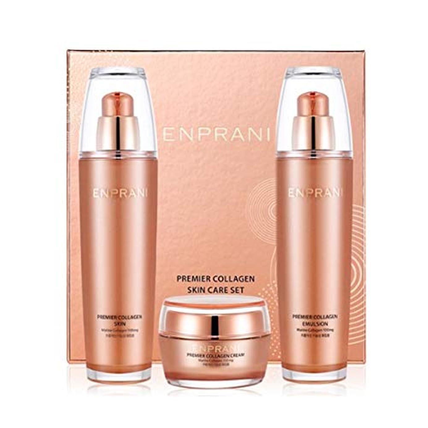 建物プロットカポックエンプラニ?プレミアコラーゲンセット(スキン125ml、エマルジョン125ml、クリーム50ml)、Enprani Premier Collagen Set (Skin、Emulsion、Cream) [並行輸入品]