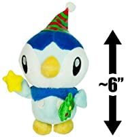 """Piplup ~6"""" Pokemon Holiday Mini-Plush (Japanese Import)"""