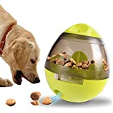 IQ Treat Ball,Interactive Food Dispensing Ball for Dogs Cats Snack Dispenser Tumbler Food Feeder Pet Wobbler Toy(3.9In x 4.6In)