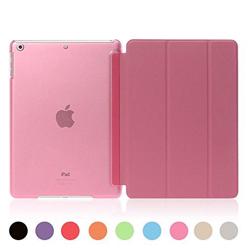 [ライブリーライフ]iPad ミニ カバー iPad mini ケース mini1 mini2 mini3対応 超薄型 三つ折り スタンド 全9色(iPad mini1/2/3,ピンク)