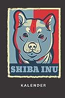 Kalender: Kalender | Notizkalender | Schreibkalender | Jahreskalender | Tageskalender | DIN A5 | Hund | Hunde | Hundehalter | Hundebesitzer | Shiba Inu | Welpe | Hundetrainer | Hunderasse | Retro | Vintage | Blau | Rot | Kunst | Motiv