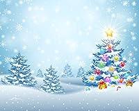ゴールドクリスマスベルバックドロップ クリスマスギフト スタイリッシュなゴールドスパークルスパンコール ボケ ウィンターパーティー 装飾 プリント生地 写真背景 10' wide by 8' tall GJ-25