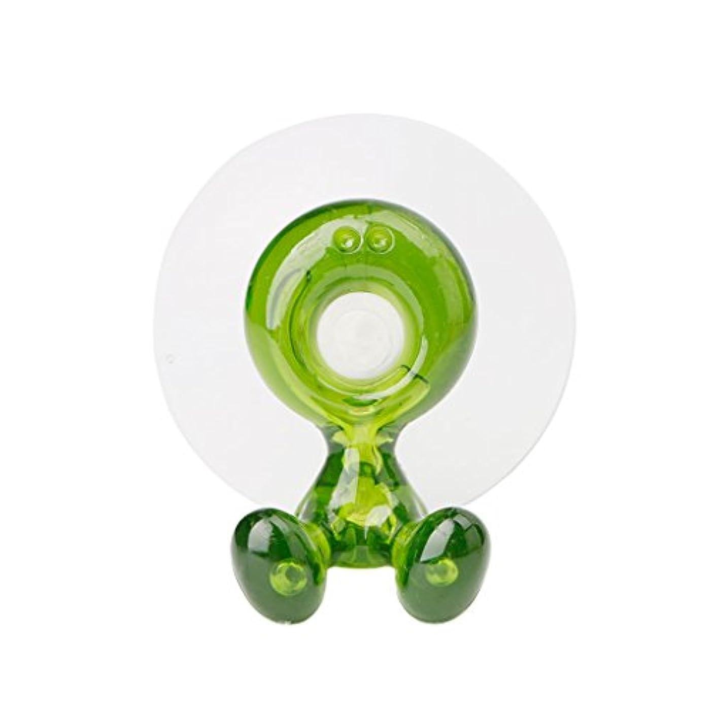 磁器持続的ピラミッドLamdooかわいい浴室歯ブラシスピンブラシサクションホルダーラックウォールマウントハングスタンドグリーン
