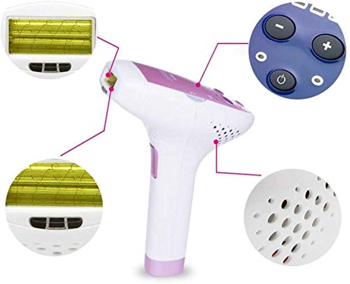収束消去適度にHSBAIS IPL 脱毛装置、無痛 家庭用 女性と男性のための脱毛システム 300000 点滅 ビキニライン/足/腕/脇の下,White Pink