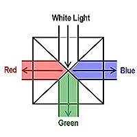 Roman Center ダイクロイック立方体プリズム RGBスプリッター 明るいライト 物理、科学の教育用ツール 光学実験装 写真用エフェクト (立方体)