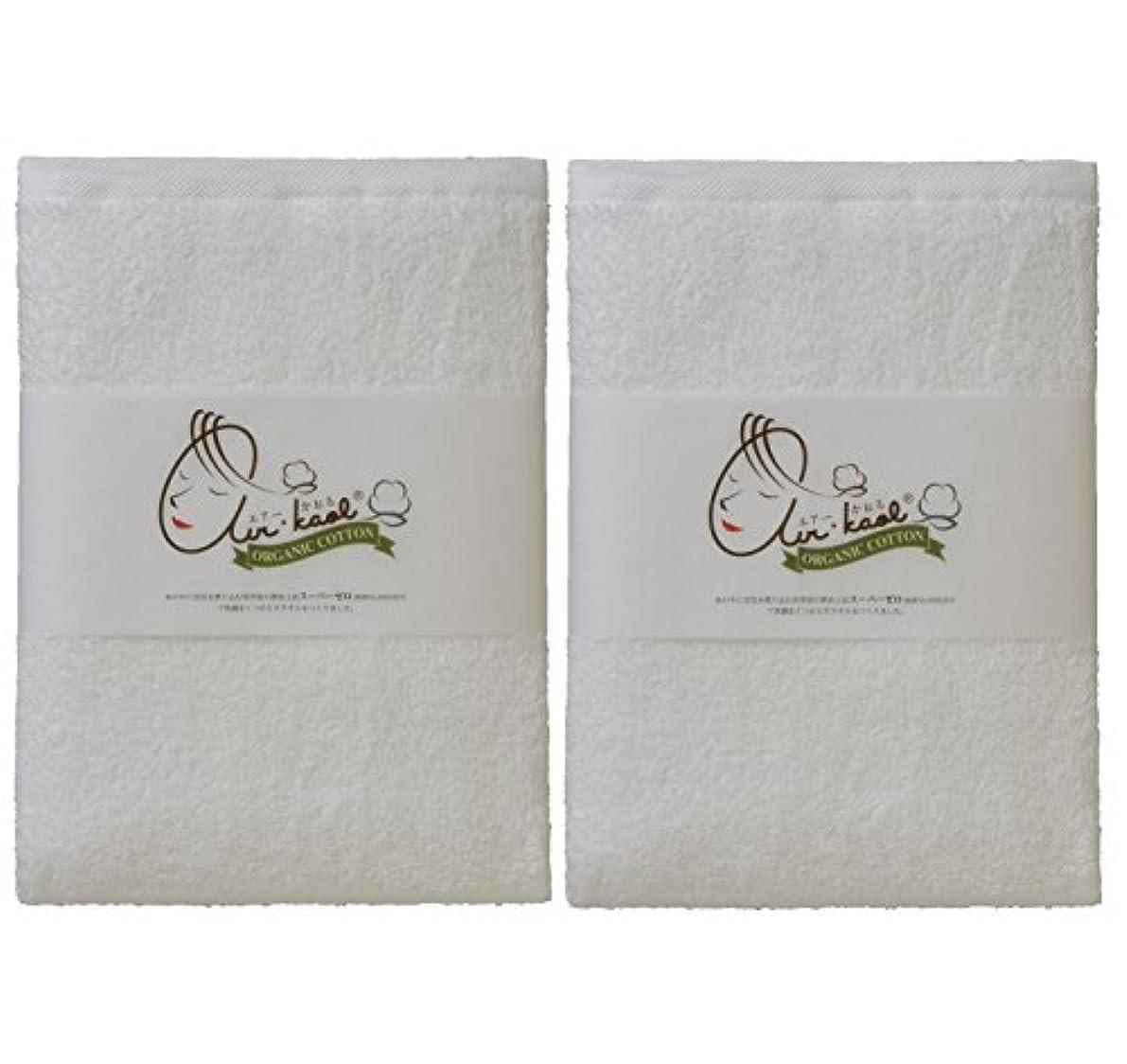 霧ジェームズダイソン指標エアーかおる バスタオル ホワイト 60×120×1cm 2個セット
