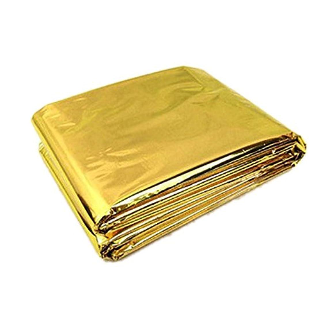 評決爵矛盾するTOOGOO 210 * 130 cm緊急生存毛布/救助外断熱ブランケット 金色