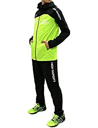 SOLEILDOR(ソレイルドール) ランニングウェア 上下セット ドライ スポーツ パーカー ジャージ ジョガー パンツ メンズ