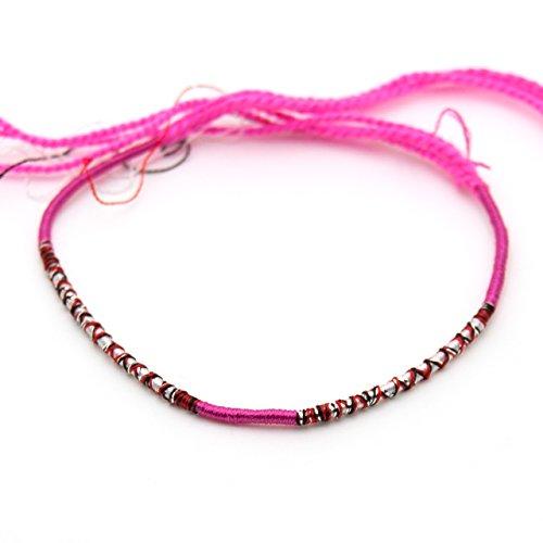 [해외]발목 용 미산 (68) 핑크 빨강 노랑 흰색 검정 은색 색상/Misanga for ankle (68) Pink red yellow white black black silver lame