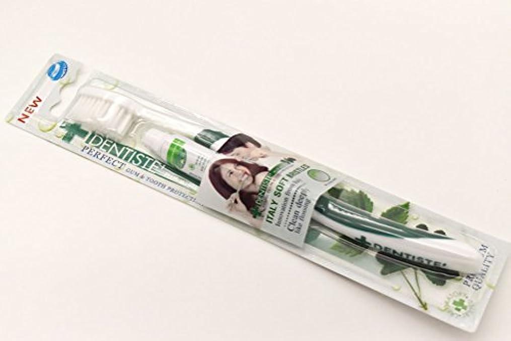 パズル所持封建DENTISTE' デンティス 歯ブラシ 歯磨き粉5g付き (アソート歯ブラシ※色は選べません) 並行輸入品