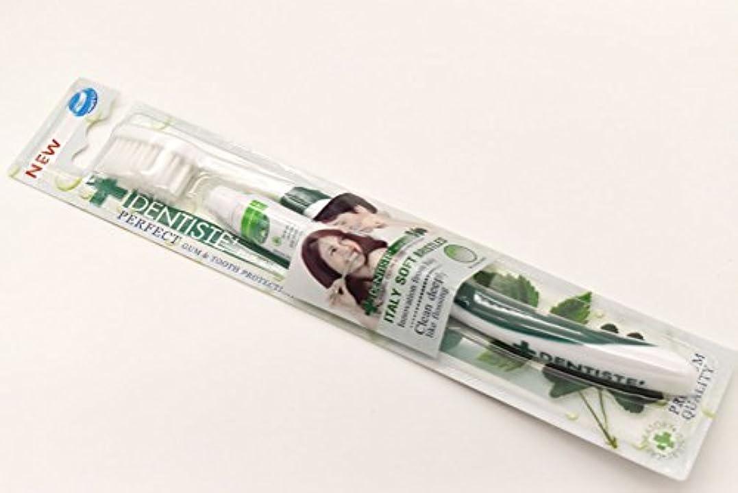 ダメージアイスクリーム標準DENTISTE' デンティス 歯ブラシ 歯磨き粉5g付き (アソート歯ブラシ※色は選べません) 並行輸入品
