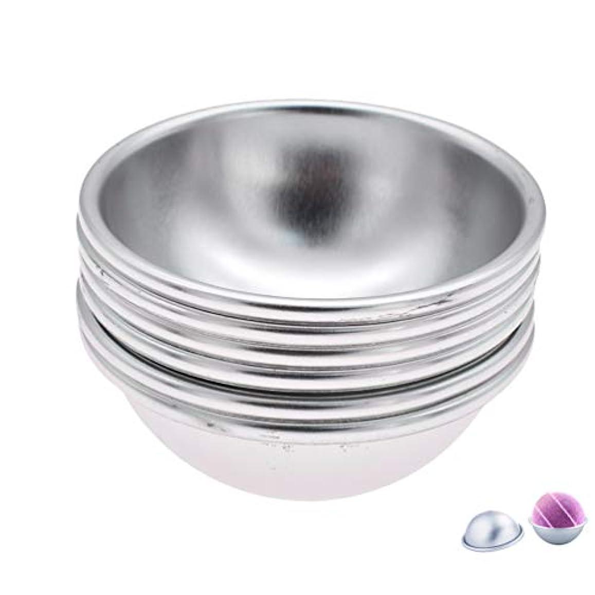 運動スロベニア本気(ライチ) Lychee 6個セット バスボム型 石鹸製造ツールセット 円形金型 DIYソープ ハンドメイド 食品にも使用可 ケーキ型 お菓子型