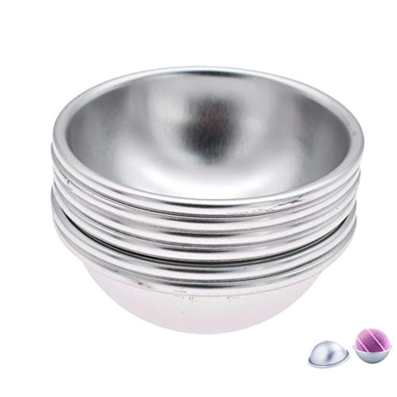 計算ソケット対応(ライチ) Lychee 6個セット バスボム型 石鹸製造ツールセット 円形金型 DIYソープ ハンドメイド 食品にも使用可 ケーキ型 お菓子型
