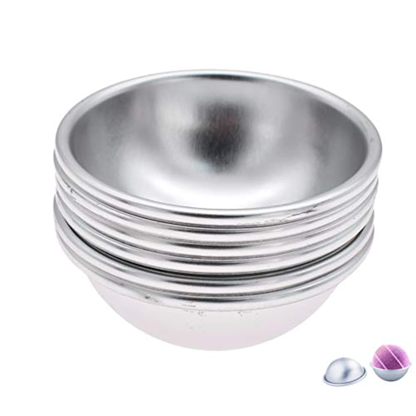 (ライチ) Lychee 6個セット バスボム型 石鹸製造ツールセット 円形金型 DIYソープ ハンドメイド 食品にも使用可 ケーキ型 お菓子型