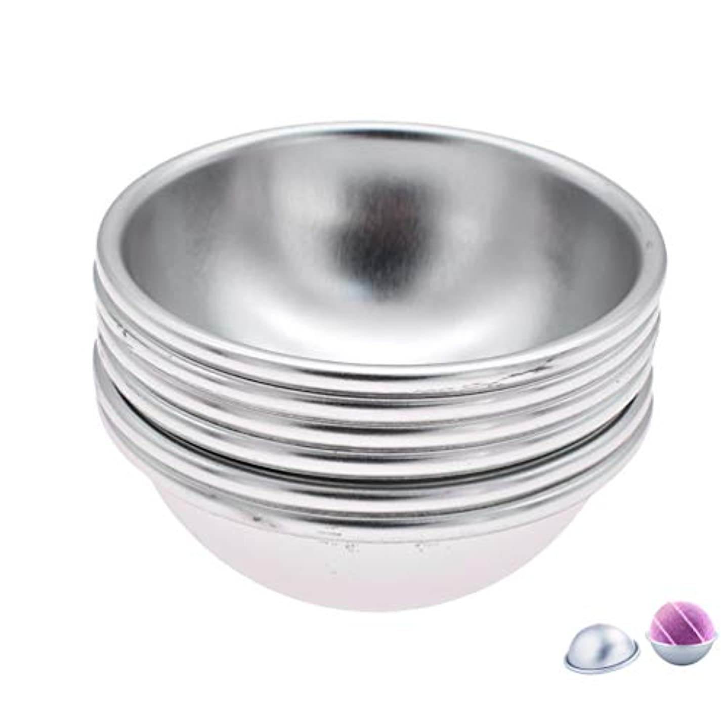 ホイスト科学的に関して(ライチ) Lychee 6個セット バスボム型 石鹸製造ツールセット 円形金型 DIYソープ ハンドメイド 食品にも使用可 ケーキ型 お菓子型