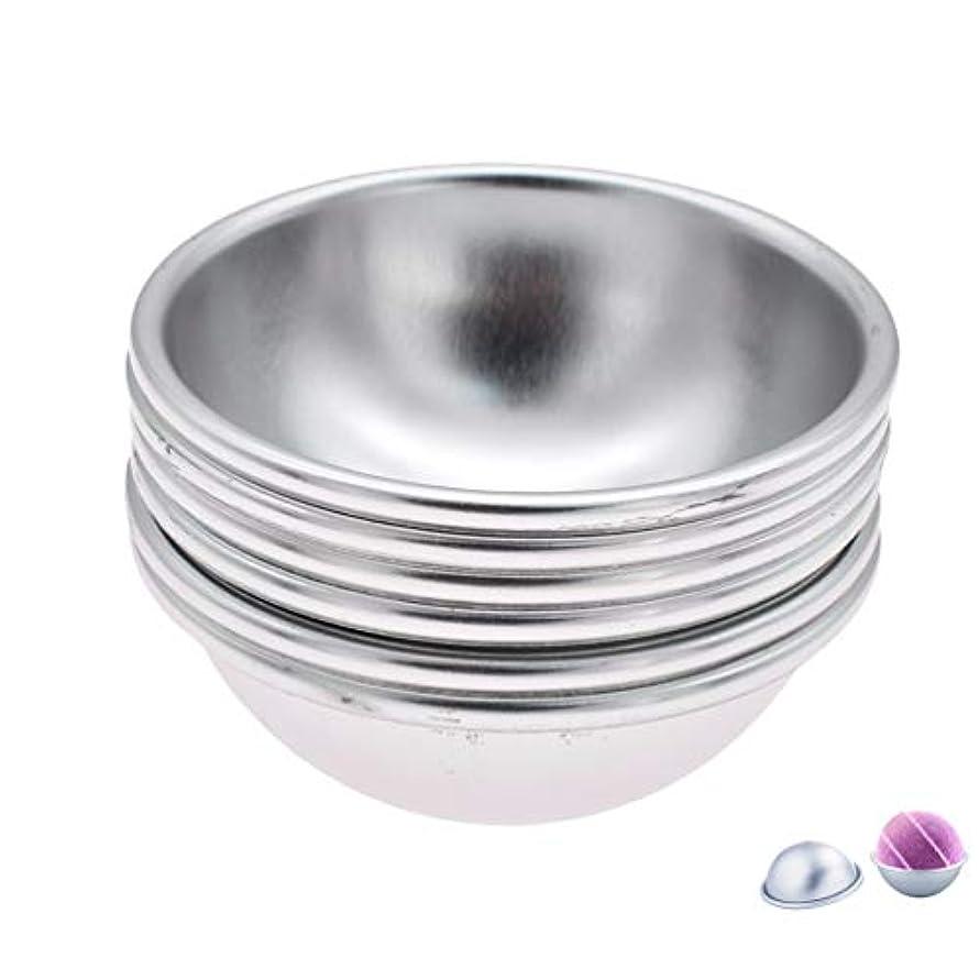 不適当真向こう司法(ライチ) Lychee 6個セット バスボム型 石鹸製造ツールセット 円形金型 DIYソープ ハンドメイド 食品にも使用可 ケーキ型 お菓子型