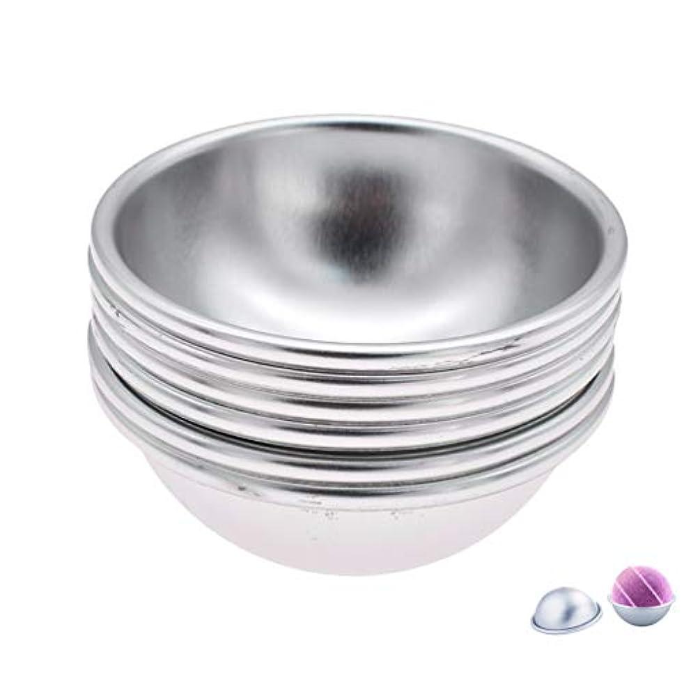 浴室シャッフルベル(ライチ) Lychee 6個セット バスボム型 石鹸製造ツールセット 円形金型 DIYソープ ハンドメイド 食品にも使用可 ケーキ型 お菓子型