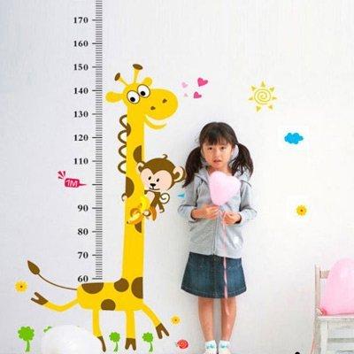 【キリンさん身長計付きステッカー】ws-001大きめサイズ ウォールステッカー ウォールペーパー シール