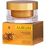 MOISTURIZING DAY CREAM FOR FACE WITH GOLD | hyaluronic acid, wheat proteins, extracts of white tea and orange...