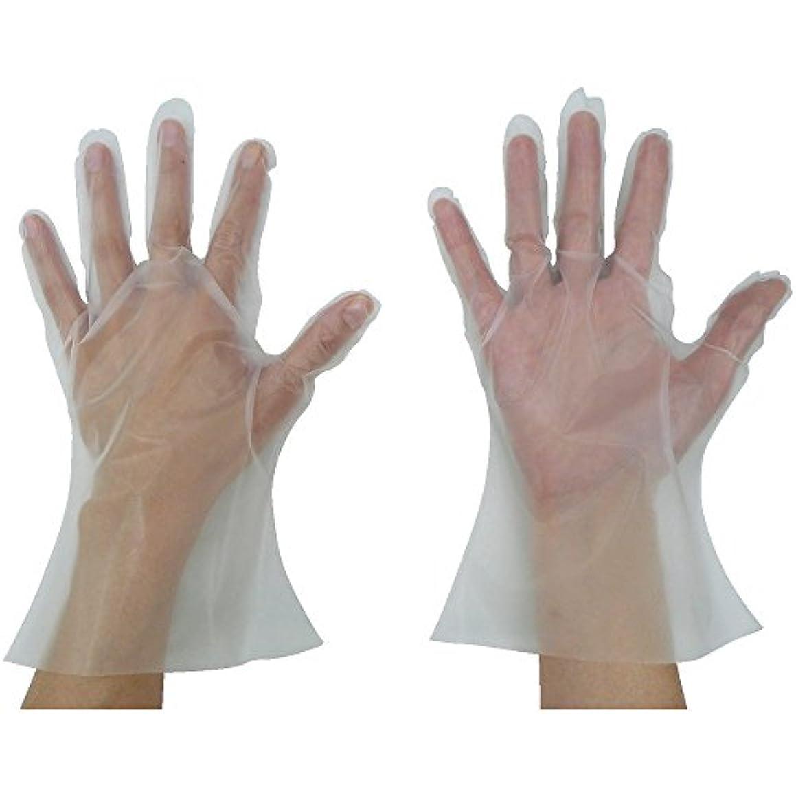 チャット神聖空の東京パック 緊急災害対策用手袋ニュ?マイジャスト簡易50S 半透明 KN-S ポリエチレン使い捨て手袋
