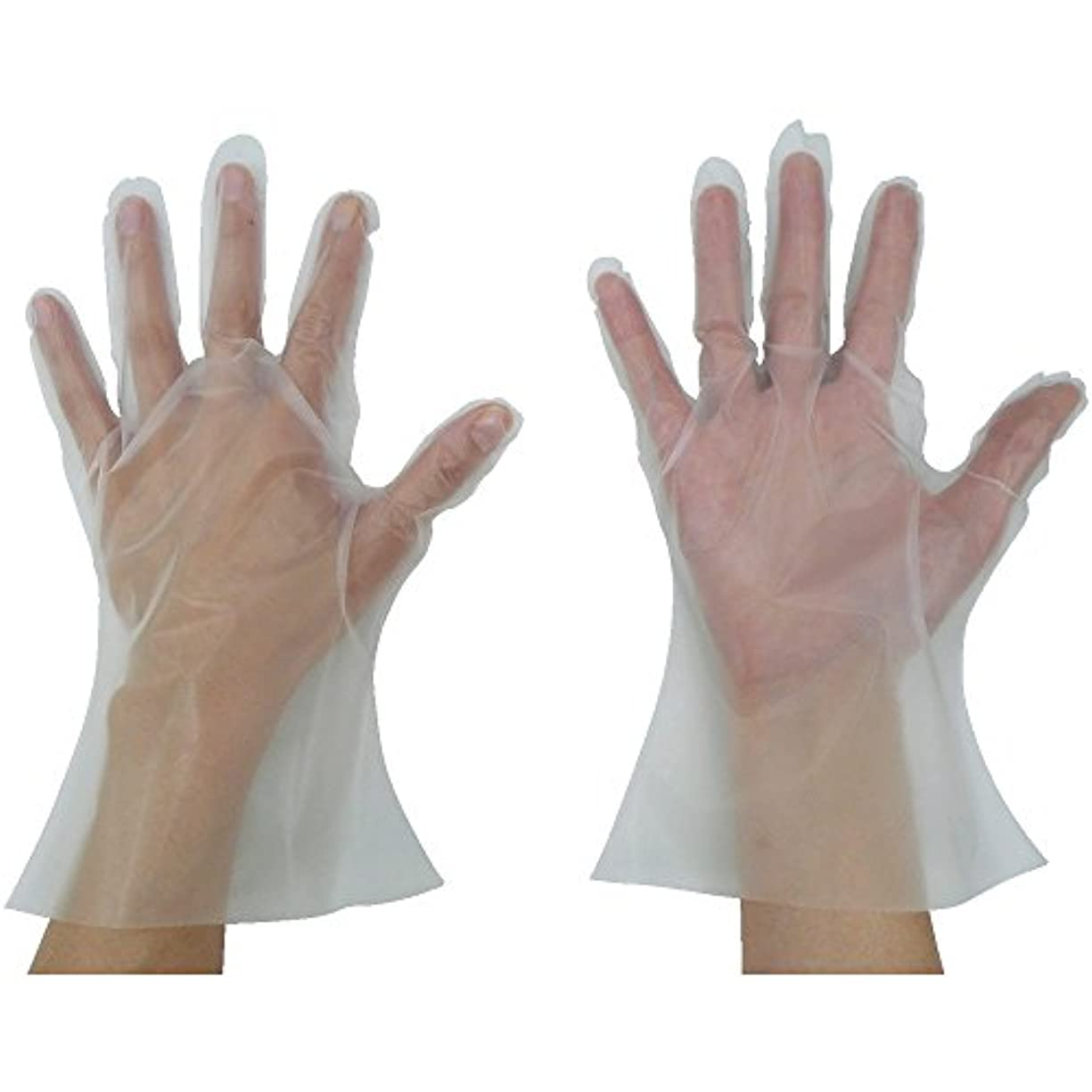 珍味ダイジェストメアリアンジョーンズ東京パック 緊急災害対策用手袋ニュ?マイジャスト簡易50S 半透明 KN-S ポリエチレン使い捨て手袋