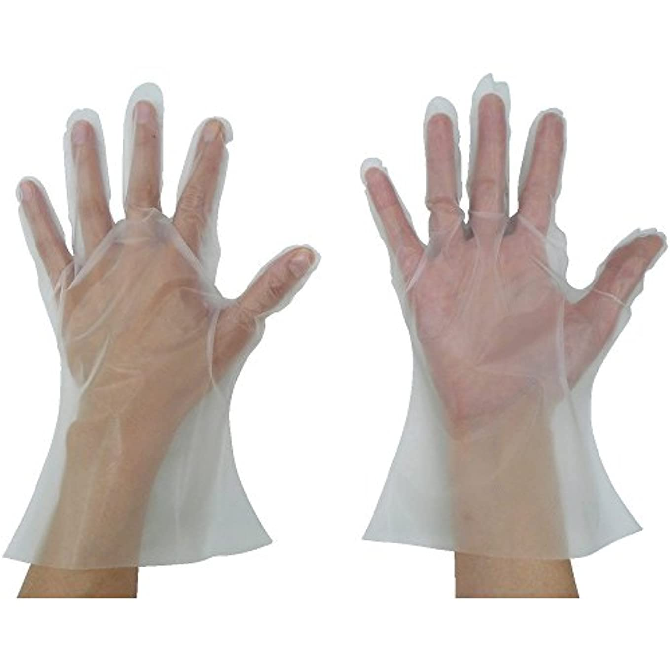 悲惨出力膨張する東京パック 緊急災害対策用手袋ニューマイジャスト簡易50M 半透明 KN-M ポリエチレン使い捨て手袋