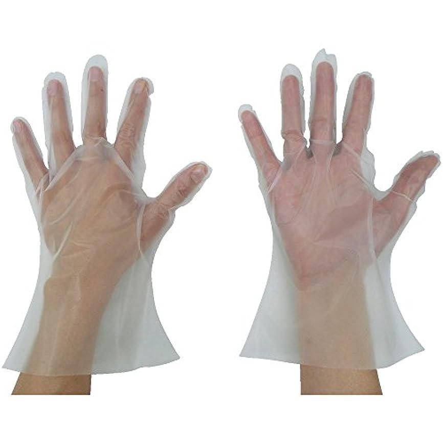 東京パック 緊急災害対策用手袋ニューマイジャスト簡易50M 半透明 KN-M ポリエチレン使い捨て手袋