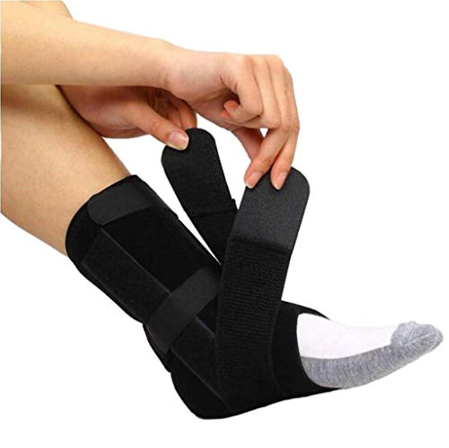 太字小切手血まみれドロップフット–ドロップフット、神経損傷、足の位置、圧力緩和、足首と足の装具のサポート-ユニセックス (Size : L)