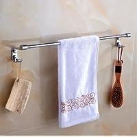 2015 stainless steel 304 single towel bar with hook 60cm bathroom Towel Rack towel Bar Bathroom Accessories towel holder