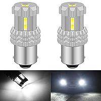 KaTur 1156 BA15S 1141 7506 P21W LED電球ハイパワー12個3020SMDチップセット非常に明るい2800ルーメン、バックアップライト、テールライト、ブレーキライト、6500Kキセノンホワイト用(2パック)