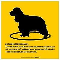 ENGLISH COCKER SPANIEL'S POEMマグネットサイン:イングリッシュコッカースパニエル(イエロー/Mサイズ) アメリカの詩 英語 愛犬家 優しさ防犯 マグネットステッカー