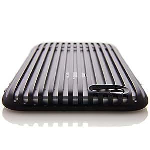 SQUAIR iPhone 6 ケース 【The Slit】 日本製 ドレスケース 超々ジュラルミン A7075を贅沢に削り出し 金属製  アルミ 合金 バンパー 工具不要   ブラック   SQSLT600-BLK