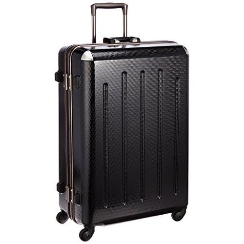 [プラスワン] PLUS ONE 軽量スーツケース RE:STYLE 85L 5.3kg 4泊~8泊対応 4輪 ヒノモト静音キャスター ポーチ・ハンガー1個付き 380-68 stealth BLACK (ステルスブラック)